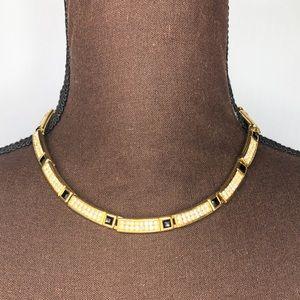 GIVENCHY Vintage Gold Tone Rhinestone Necklace
